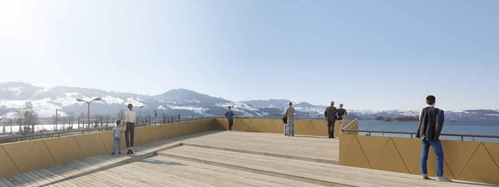 Visualisierungen Visitor Center Rapperswil, Halter Hunziker Architekten 2018